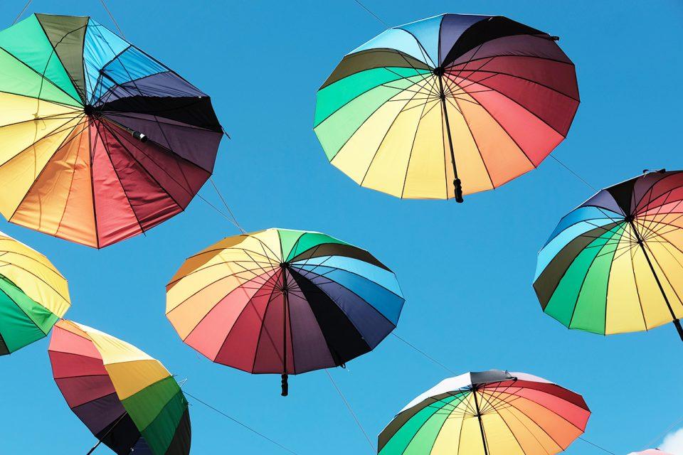 Image of Colorful Umbrellas