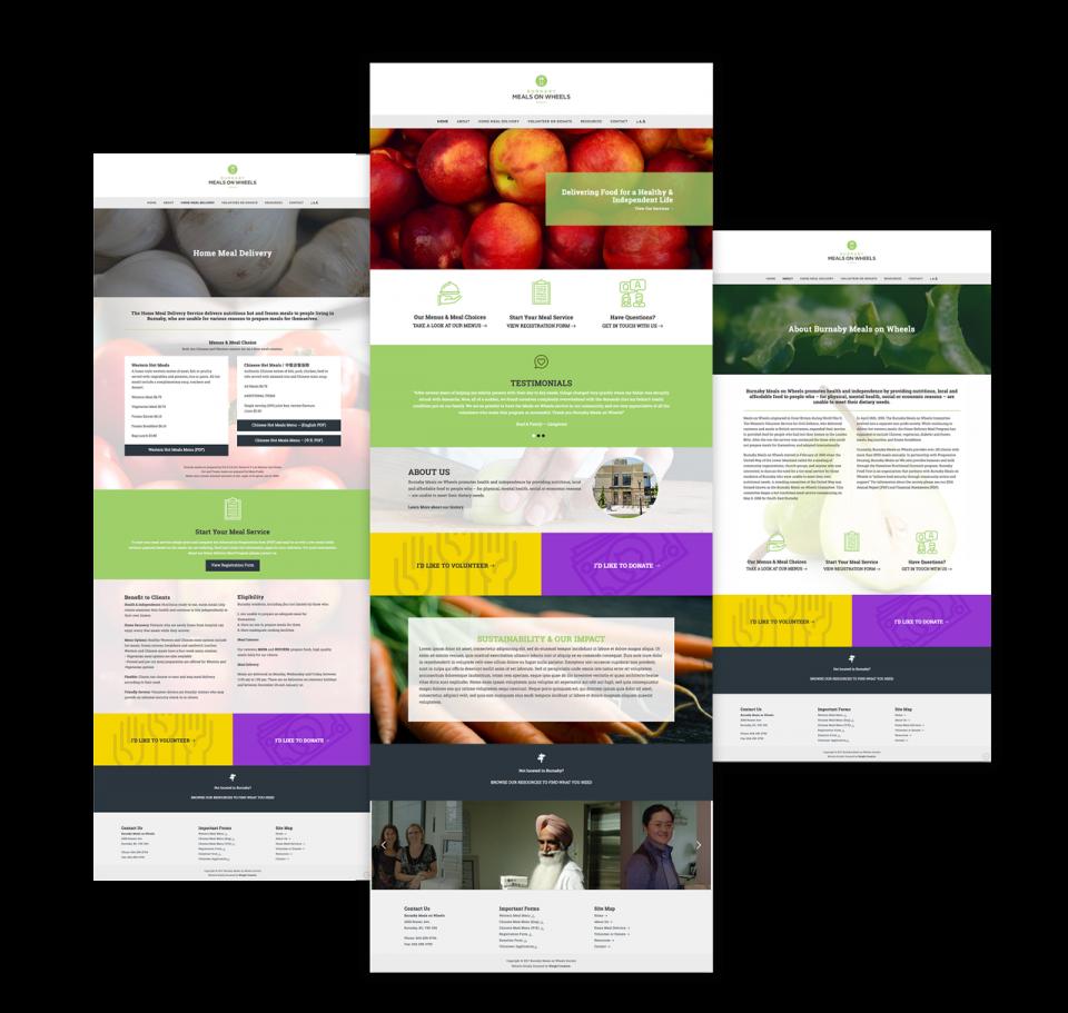 Website Redesign Mockups